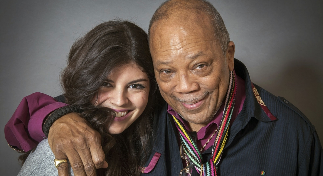 Quincy Jones and Nikki Yanofsky at the Ritz Carleton in Toronto
